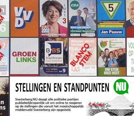 Blanco stemmen; D66, LAS en SGP/ChristenUnie