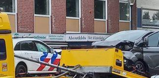 Frontale botsing Politieauto