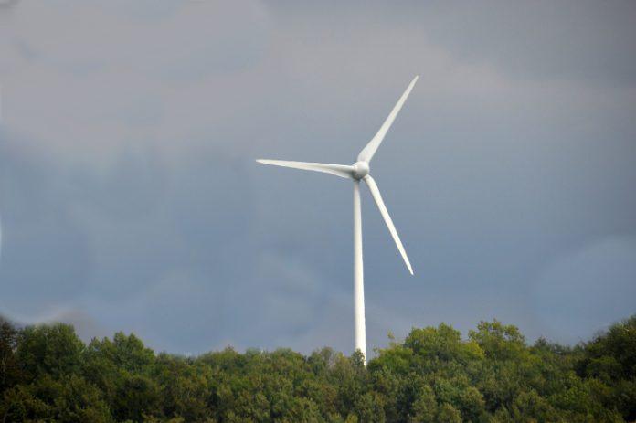 Windturbine nabij detentiecentrum